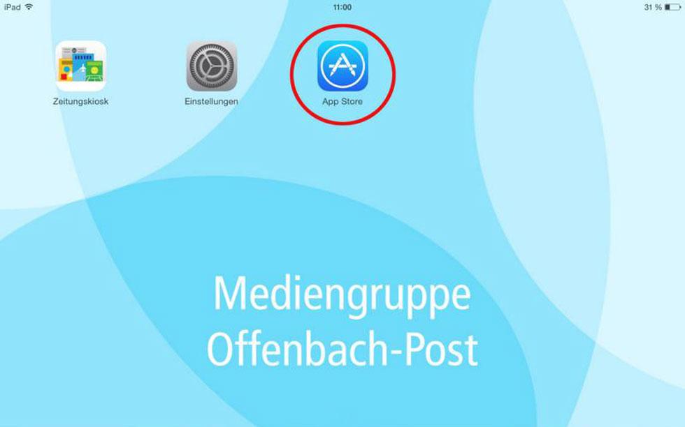 So finden Sie die Offenbach-Post E-Paper-App im App-Store